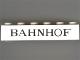 Part No: 3009px42  Name: Brick 1 x 6 with Black 'BAHNHOF' Thin Pattern