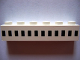 Part No: 3009px48  Name: Brick 1 x 6 with Ferry Squares Black 12 in 1 Line Pattern