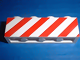 Part No: 3010p06  Name: Brick 1 x 4 with Red Danger Stripes on Un-Printed Background Pattern