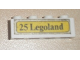 Part No: 3010pb042  Name: Brick 1 x 4 with Black '25 Legoland' Pattern (Sticker) - Set 379-1