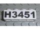 Part No: 3010pb092  Name: Brick 1 x 4 with Black 'H3451' Pattern (Sticker) - Set 3451