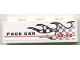 Part No: 3010pb107R  Name: Brick 1 x 4 with Checkered Flame and 'PACE CAR V-8' Pattern Model Right (Sticker) - Set 8121