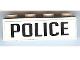 Part No: 3010pb118  Name: Brick 1 x 4 with Black 'POLICE' Pattern (Sticker)