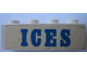 Part No: 3010pb128  Name: Brick 1 x 4 with Blue 'ICES' Pattern (Sticker) - Set 1589-1
