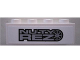 Part No: 3010pb145  Name: Brick 1 x 4 with 'NUTY REZ' on White Background Pattern (Sticker) - Set 8495