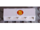 Part No: 3010pb159  Name: Brick 1 x 4 with Yellow '5' in Red Circle Pattern (Sticker) - Set 8158