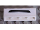 Part No: 3010pb160  Name: Brick 1 x 4 with Black and Silver Bumper Pattern (Sticker) - Set 8158