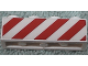 Part No: 3010pb167  Name: Brick 1 x 4 with Red Danger Stripes Pattern on One Side (Sticker) - Set 6606