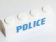 Part No: 3010pb194  Name: Brick 1 x 4 with Blue 'POLICE' on White Background Pattern (Sticker) - Set 60128