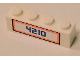 Part No: 3010pb199  Name: Brick 1 x 4 with Blue '4210' Pattern (Sticker) - Set 4210