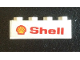 Part No: 3010pb287R  Name: Brick 1 x 4 with 'Shell' Text and Logo Pattern Model Right Side (Sticker) - Set 7735