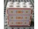 Part No: 30144pb086  Name: Brick 2 x 4 x 3 with Drawers Pattern (Sticker) - Set 7586