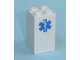 Part No: 30145pb003  Name: Brick 2 x 2 x 3 with EMT Star of Life Pattern (Sticker) - Set 7892