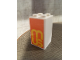 Part No: 30145pb021  Name: Brick 2 x 2 x 3 with Yellow 'MUS' on Orange Background Pattern (Sticker) - Set 60200