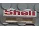 Part No: 3023pb01  Name: Plate 1 x 2 with Red 'Shell' Pattern on Long Edge (Sticker) - Set 6634