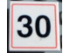 Part No: 30258pb004  Name: Road Sign 2 x 2 Square with Clip with 30 Pattern