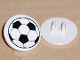 Part No: 30261pb007  Name: Road Sign Clip-on 2 x 2 Round with Soccer Ball Pattern (Sticker) - Sets 3414 / 3419