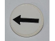 Part No: 30261pb013  Name: Road Sign Clip-on 2 x 2 Round with Black Arrow on White Background Pattern (Sticker) - Set 8126