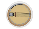 Part No: 30261pb029  Name: Road Sign Clip-on 2 x 2 Round with Banjo Pattern (Sticker) - Set 10222