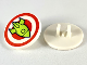 Part No: 30261pb039  Name: Road Sign Clip-on 2 x 2 Round with Red Bullseye and Lime Rocket Pattern