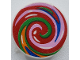 Part No: 30261pb041  Name: Road Sign 2 x 2 Round with Clip with Multicolor Swirled Lollipop Pattern