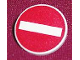Part No: 30261px4  Name: Road Sign Clip-on 2 x 2 Round with No Entry / Thoroughfare Pattern