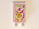 Part No: 30350bpb039  Name: Tile, Modified 2 x 3 with 2 Clips with Bright Light Orange Tiger, Magenta Cross, Bright Pink Border Pattern (Sticker) - Set 41058