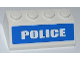 Part No: 3037pb021  Name: Slope 45 2 x 4 with White 'POLICE' on Blue Background Wide Pattern (Sticker) - Set 7286