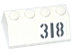 Part No: 3037pb041L  Name: Slope 45 2 x 4 with Light Bluish Gray '318' Pattern Model Left Side (Sticker) - Set 76041