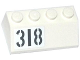 Part No: 3037pb041R  Name: Slope 45 2 x 4 with Light Bluish Gray '318' Pattern Model Right Side (Sticker) - Set 76041