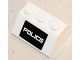 Part No: 3038pb09  Name: Slope 45 2 x 3 with White 'POLICE' on Black Background Pattern (Sticker) - Set 5985