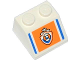 Part No: 3039pb074  Name: Slope 45 2 x 2 with Blue Lines and Coast Guard Logo on Orange Background Pattern (Sticker) - Set 60012
