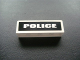 Part No: 30413pb019  Name: Panel 1 x 4 x 1 with White 'POLICE' on Black Background Pattern (Sticker) - Set 7236-1
