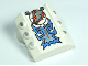 Part No: 30603pb08  Name: Brick, Modified 2 x 2 No Studs, Sloped with 6 Side Pistons Raised and Freeze Blue, Silver, and Orange Pattern