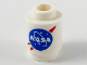 Part No: 3062bpb063  Name: Brick, Round 1 x 1 Open Stud with Blue and Red 'NASA' Logo Pattern