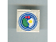 Part No: 3068apb12  Name: Tile 2 x 2 without Groove with Blue Circle Plate, Fried Egg, 2 Red Spots Pattern (Sticker) - Set 269