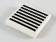 Part No: 3068bp07  Name: Tile 2 x 2 with Groove with Grille Black Pattern