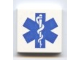 Part No: 3068bpb0038  Name: Tile 2 x 2 with Groove with Blue EMT Star of Life Pattern