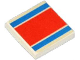 Part No: 3068bpb0040  Name: Tile 2 x 2 with Groove with Red and Blue Stripe Pattern (Sticker) - Set 6679-2