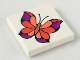 Part No: 3068bpb0051  Name: Tile 2 x 2 with Groove with Butterfly Pattern