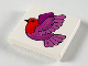 Part No: 3068bpb0052  Name: Tile 2 x 2 with Groove with Bird Pattern