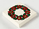 Part No: 3068bpb0053  Name: Tile 2 x 2 with Groove with Flower Ring Pattern