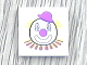Part No: 3068bpb0073  Name: Tile 2 x 2 with Groove with Clown Face Pattern (Sticker) - Set 5860