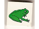 Part No: 3068bpb0076  Name: Tile 2 x 2 with Groove with Green Frog Pattern