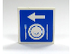Part No: 3068bpb0162  Name: Tile 2 x 2 with Groove with Arrow, Plate and Silverware Pattern (Sticker) - Set 7997