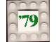Part No: 3068bpb0171  Name: Tile 2 x 2 with Groove with Green '79 Pattern