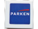 Part No: 3068bpb0175  Name: Tile 2 x 2 with Groove with 'PARKEN' and Red Streak Pattern