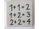 Part No: 3068bpb0206  Name: Tile 2 x 2 with Groove with Equations Pattern (Sticker) - Set 5235-2