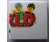 Part No: 3068bpb0218  Name: Tile 2 x 2 with Groove with LEGO World Logo Right Half Pattern