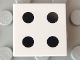 Part No: 3068bpb0291  Name: Tile 2 x 2 with Groove with 4 Black Dots Pattern